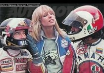 1976 barry en Stephanie Sheene met Johnny Cecotto