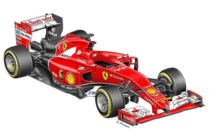 f1 ferrari ecco come cambier la monoposto 2015 formula 1. Black Bedroom Furniture Sets. Home Design Ideas