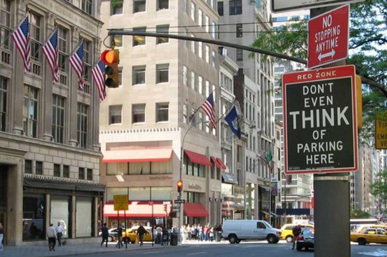 new york don't even think of parking here